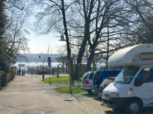 Freistehen in Konstanz am Jachthafen